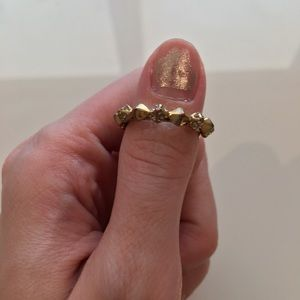 House of Harlow Studded CZ Gold Ring 5
